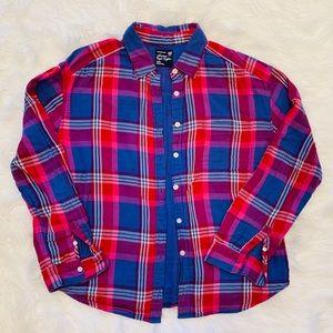 American eagle plaid button up shirt